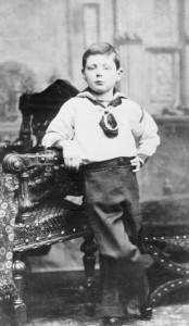 Portrait of Winston Churchill taken in Dublin, Ireland, 1881