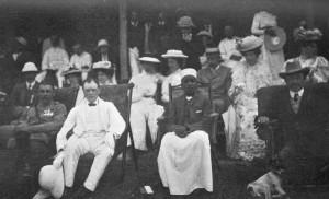 Winston Churchill and King Daudi Cwa II of Buganda in Kampala, British Protectorate of Uganda, 1907